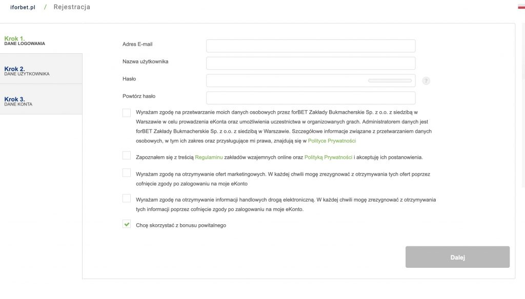 forbet rejestracja online